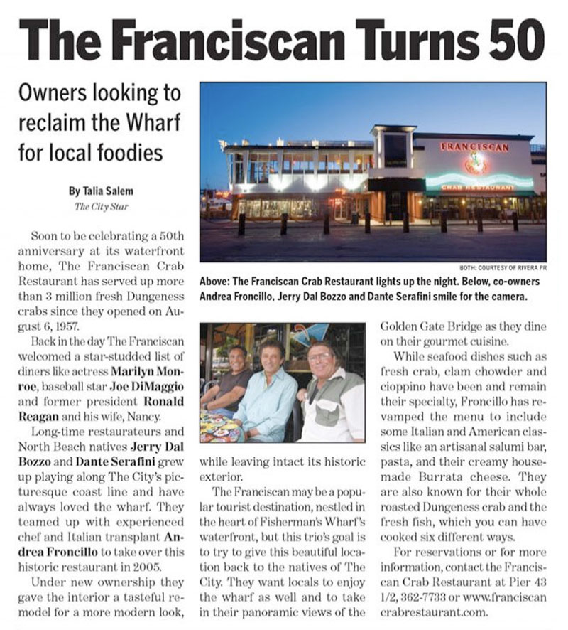 The Franciscan Turns 50 Story